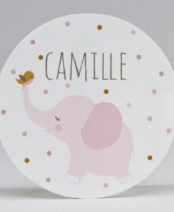 Stickers elephant rose
