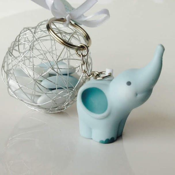 e275e881a161c Porte clés éléphant bleu - La Boite à Dragées