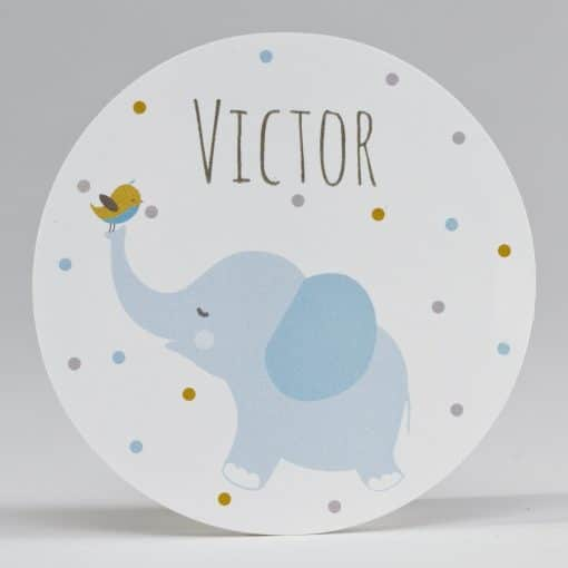 etiquette sticker elephant bleu