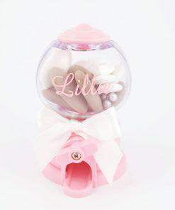 distributeur de bonbons rose