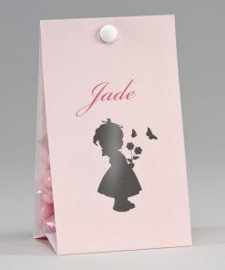 boite a dragées rose fillette