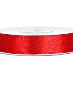 ruban satin rouge 12mm