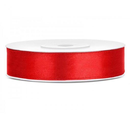 ruban satin rouge 12mm