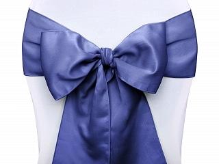 Ruban Satin Pour Nœud De Chaise Bleu Marine Lot De 10 La Boite