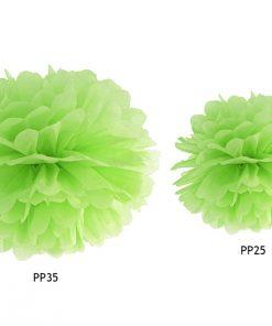 pompon en papier vert anis