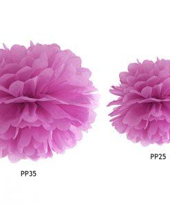 pompon en papier de soie rose foncé