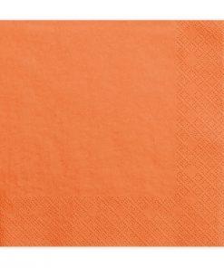 Serviette en papier orange