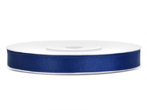 ruban satin bleu marine