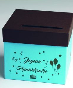 urne anniversaire turquoise