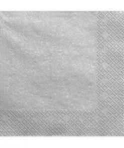 serviette papier argenté
