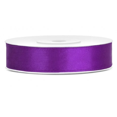 ruban satin violet 12mm