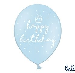 ballons bleu ciel-happy birthday