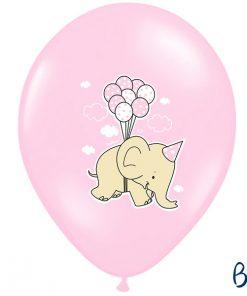 ballons rose-éléphant