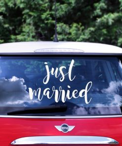sticker mariage voiture
