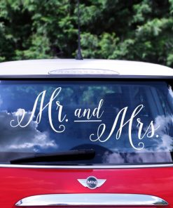Stickers mariage deco voiture