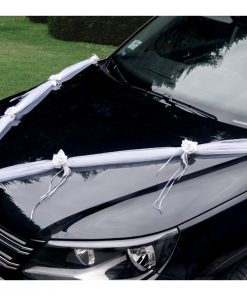 Guirlande voiture deco mariage