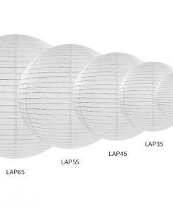 lampions- boules chinoises-blanc