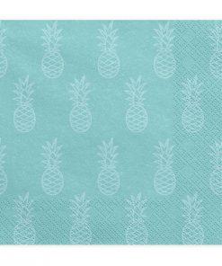 serviette bleue-ananas