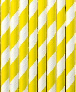 pailles rayées jaune