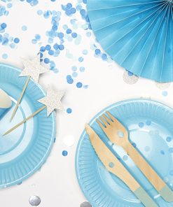 assiette bleu ciel