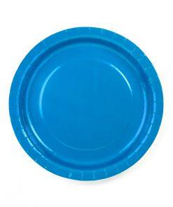 assiette bleu turquoise