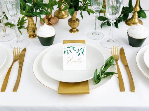 Marque place theme vegetal deco