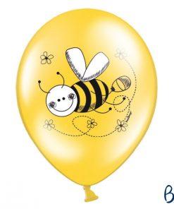 ballon abeille-blanc-jaune