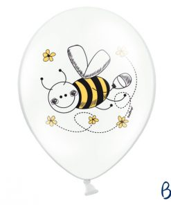 ballons abeille-blanc-jaune