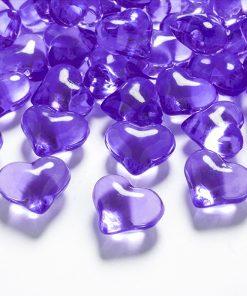 coeurs strass violet