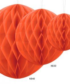 boules alvéolées orange
