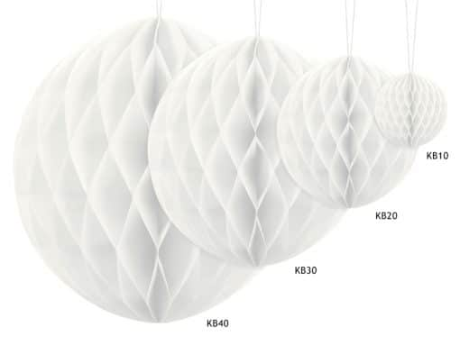 Boule alvéolées blanches
