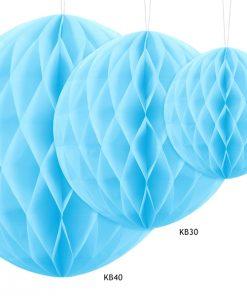 boules alvéolées bleu ciel