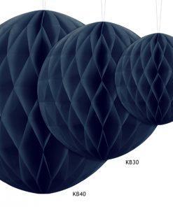 boules alvéolées bleu marine