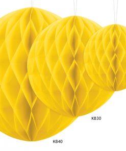 boules alvéolées jaune