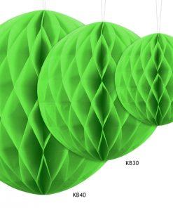 boules alvéolées vert anis
