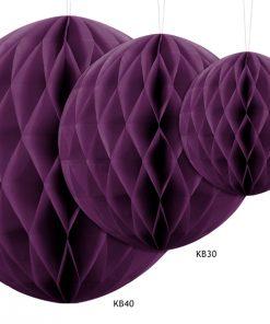 boules alvéolées violet