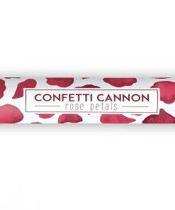 canon à confettis rouge