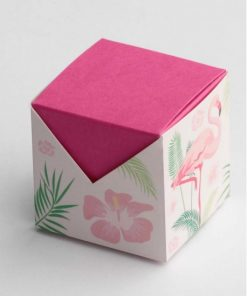 boite à dragées alizée flamand rose