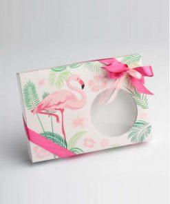 boite à dragées léa mini flamand rose