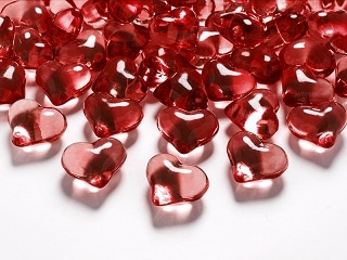 coeur strass rouge