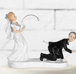 figurine mariage-pêche