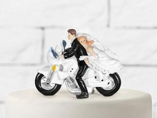 figurine mariage-moto
