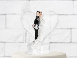 figurine mariage-coeur blanc
