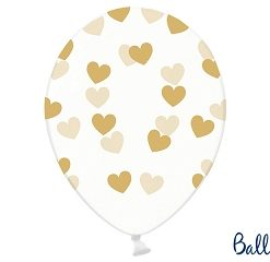 ballon blanc-coeur or