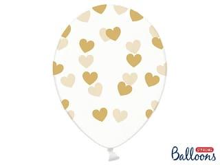 ballon blanc-coeur or