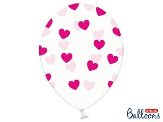 ballon crystal-coeurs fuchsia