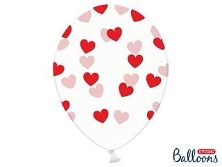 ballon crystal-coeurs rouges