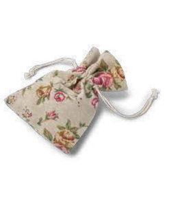 sac à dragées-pochon en lin liberty bucolique