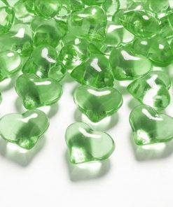 coeurs strass vert