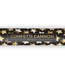 canon à confettis étoile dorée